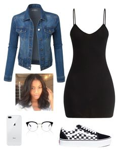Apr 2020 - A fashion look from February 2018 featuring v-neck dresses, blue jean jacket and vans sneakers. Browse and shop related looks. Baddie Outfits Casual, Boujee Outfits, Swag Outfits For Girls, Cute Swag Outfits, Teenage Girl Outfits, Cute Comfy Outfits, Teen Fashion Outfits, Girly Outfits, Simple Outfits