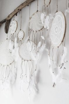Dream Catchers | White Feathers