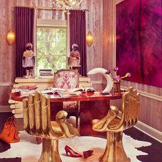 office by @kellywearstler. #camilakleinarquiteta #kellywearstler #interiordesign #decoração #luxo #luxury #flamboyant #colorful #dourado #golden