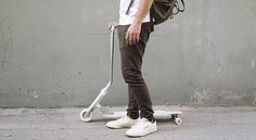 merging the best qualities of skateboards and scooters, the elegant hybrid is…