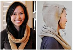 Hooded Infinity Scarf from a sweater you might not wear anymore? Please, please please!!!