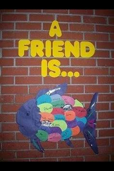 A great extension of The Rainbow Fish book. Also a great display