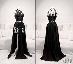 Victorian Gothic Black Wedding Dress Ideas