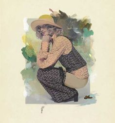 Girl with Trousers Down, collage by Richard Hamilton. Collage, Hamilton, Pop Art, Disney Characters, Fictional Characters, Trousers, Disney Princess, Illustration, Artist