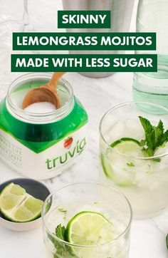 Here's to muddled mint, zesty lemongrass and summer to the max. Try a Skinny Lemongrass Mojito by Love & Lemons made with Truvía Natural Sweetener and fewer calories.