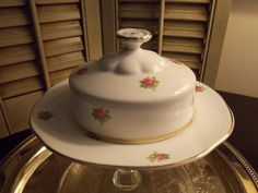 Vintage Bone China ROUND Covered BUTTER by VintageCreativeAccen, $18.00