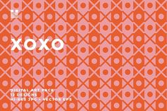 XOXO by Hello Mart on @creativemarket.   XOXO is a geometric pattern set of simple Xs and Os made for Valentine's Day but could be applied to projects any time of the year. The patterns are bold with a modern style.