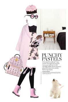 """""""Punchy pastels"""" by pensivepeacock ❤ liked on Polyvore featuring Enföld, MCM, Illesteva, Tom Binns and Blueberry Hill"""