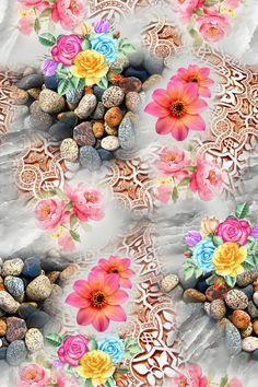 Fabric Print Design, Design Textile, Flower Pattern Design, Flower Patterns, Textiles, Textile Prints, Mobile Wallpaper, Iphone Wallpaper, Class Design
