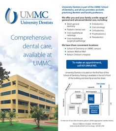 University Dentists patient panel card (May 2015)