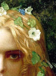 Classic art - Portion of Antoine Auguste Ernest Hebert's Ophelia art – Classic art Renaissance Paintings, Renaissance Art, Bel Art, Art Ancien, Classical Art, Pretty Art, Aesthetic Art, Art Inspo, Art History