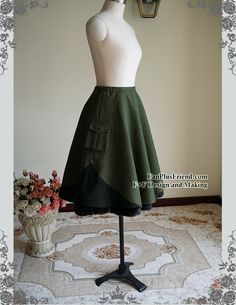 Steel Rose Military Lolita Steampunk Double-Layer Uniform SkirtFREE EXPRESS SHIPPING (92.00 USD) by Fanplusfriend