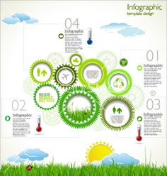 Modern ecology design layout vector - by totallyout on VectorStock®