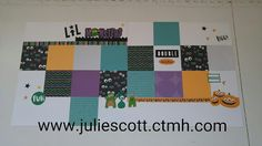 Food, Crafts, and More!  Jeepers Creepers Layout.  Close to My Heart.  CTMH.  Halloween Layout.  www.juliescott.ctmh.com