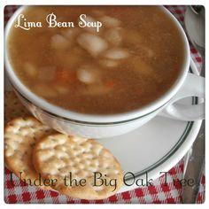Lima Bean Soup ~ A Low Calorie, Low Budget Recipe