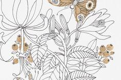 Flourish /  art print. $20,00, via Etsy.