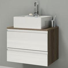 Gabinete para Banheiro Itatiaia Brisa IGBS1G1 60 ART   (Não Acompanha Cuba) Carvalho Marsala/Branco Laca