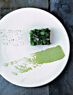 Noma green dish, by Ditte Isager.