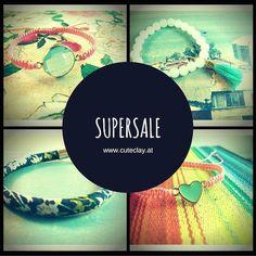 Heute sind neue Produkte in den SUPERSALE eingezogen...wuhuu :D  Sommerprodukte die wie ich finde noch gut in den Herbst passen und auch im nächsten Sommer noch trendy sind! Rund um die Uhr Schnäppchen shoppen auf www.cuteclay.at :)