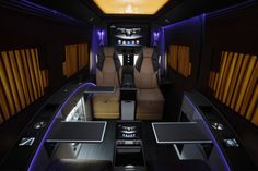 The Brabus Business Lounge offers plenty of work and relaxation features for long road com...