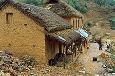 Vernacular architecture - Wikipedia, the free encyclopedia - stone and clay houses in rural Nepal Clay Houses, Stone Houses, Mud House, Himalaya, Vernacular Architecture, Unusual Homes, Thatched Roof, Sense Of Place, Types Of Houses