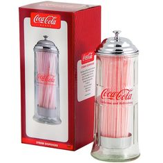 Retro Coke Straw Dispenser