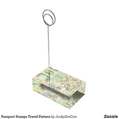Passport Stamps Travel Pattern Table Number Holder May 12 2017 #spring #junkydotcom