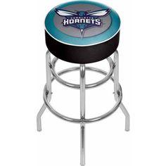 Trademark Charlotte Hornets NBA Padded Swivel Bar Stool, Multicolor