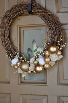 Simple but attractive decorative idea for your doors.