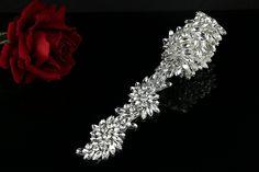 QueenDream SALE 1Yard Rhinestone applique Diamante Applique crystal applique for Bridal Sash Bridal Applique wedding applique -- Find out more about the great item at the image link.