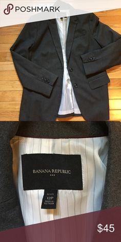 Petite Blazer Gray blazer size 12P Banana Republic Jackets & Coats Blazers