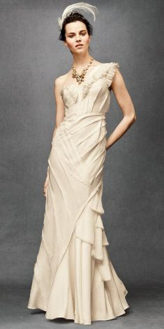 This is from BHLDN, Anthro's bridal line, so maybe hubby and I need to have another wedding so I can wear this!