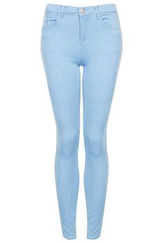 MOTO Flat Baby Blue Leigh Jeans - spring coloured jeans