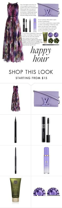 """""""Happy Hour"""" by florasart ❤ liked on Polyvore featuring Chicwish, Louis Vuitton, MAC Cosmetics, Christian Dior, Tatcha, Rituals and Color My Life"""
