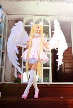 Utau Angel transformation with El from Shugo Chara