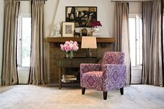 angelo-HOME_Sutton-Arm-Chair-in-a-Modern-Damask-Provence-Purple---room