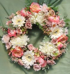 Pink Floral Spring Wreath