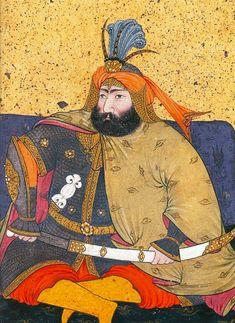 Ottoman Sultan Murad IV, shown wearing a hauberk and bazubands (mail shirt and arm guards). Murad Iv, Sultan Ottoman, Ottoman Turks, Exotic Art, Turkish Art, Historical Art, Ottoman Empire, Portrait Art, Islamic Art