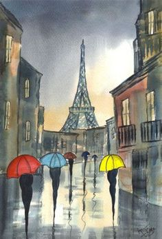 """I love cities in the rain and Paris is particularly beautiful in the rain"" - Woody Allen"