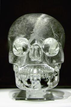 Crystal skull;  Britishmuseum.org   Made from a single block of quartz crystal, originating from Brazil or Madagascar.