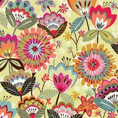 Mod meets crewelwork patterns! brie harrison