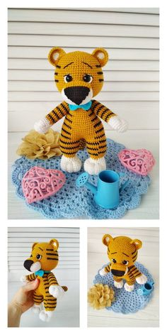 Crochet animals 123497214770421553 - Source by mariebarcou Amigurumi Patterns, Amigurumi Doll, Crochet Patterns, Knit Or Crochet, Crochet Toys, Disney Cute, Knitted Teddy Bear, Easy Knitting Projects, Thick Yarn