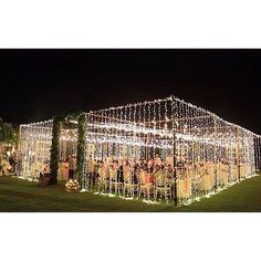 Bright Lights| Creative Idea for an Outdoor Wedding|