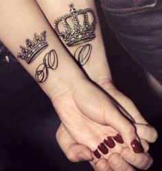 61 Iconic King and Queen Tattoo Ideas #TattooIdeasForCouples