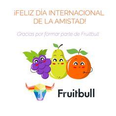 Quien tiene un amigo, tiene un tesoro.  ¡Feliz día de la amistad!   Gracias por seguirnos :)  #díadelaAmistad #fruitbull