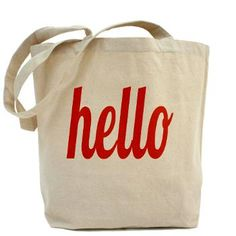 hello tote bag! just stopped by to say... hello. :)