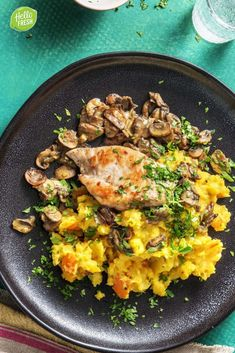 Hello Fresh Recipes, Rabbit Food, Risotto, Curry, Meat, Chicken, Drinks, Ethnic Recipes, Healthy Food