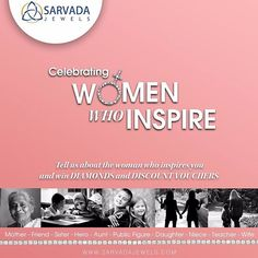 #Contestalert: Share your inspiration this Women's Day! Tell us about the woman who you look up to and who inspires you. Participate in our #ShareYourInspiration contest, and win DIAMONDS and DISCOUNT VOUCHERS from Sarvada Jewels.  Share your story and an image with the hashtag #ShareYourInspiration.  Also tag your family and friends! HOW TO PARTICIPATE: Tell us about the woman who inspires you in less than 150 words and share her picture and tag her in the post. You can post on our…