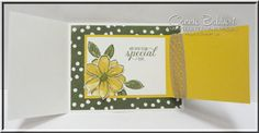Garden in Bloom, Joy Fold card inside, Stampin' Up!, #stampinup, created by Connie Babbert, www.inkspiredtreasures.com