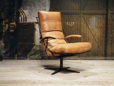 fauteuil bruno met armleuning - geschuurd leer walnut (1)